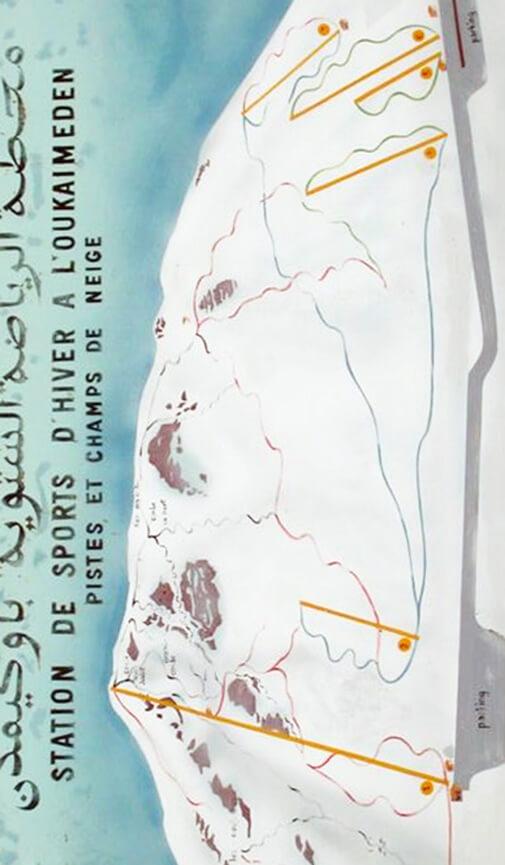 Oukaimeden Ski Area Snowboarding Map