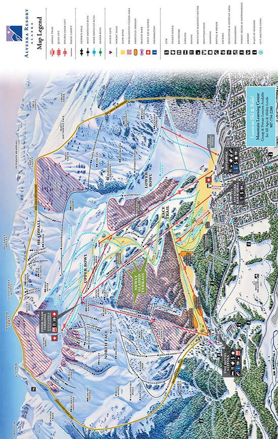 Alyeska Resort Snowboarding Map