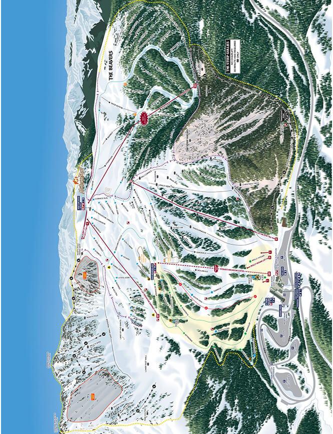 Arapahoe Basin Ski Area Snowboarding Map