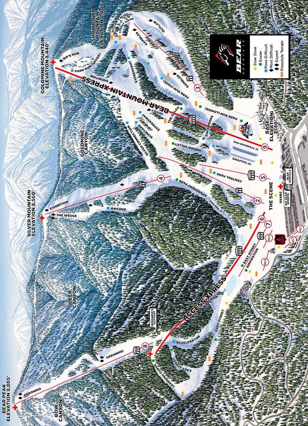 Bear Mountain Snowboarding Map