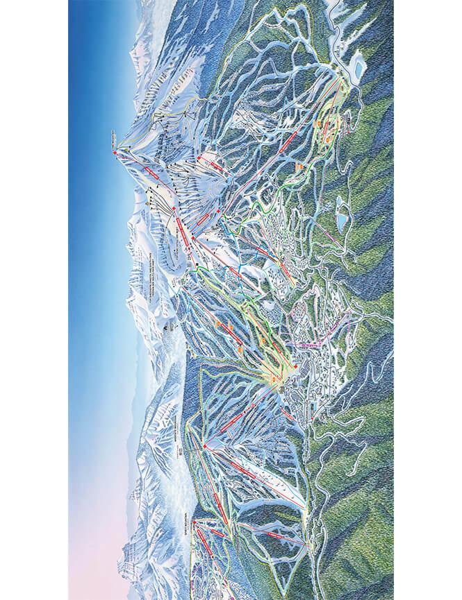 Big Sky Resort Snowboarding Map