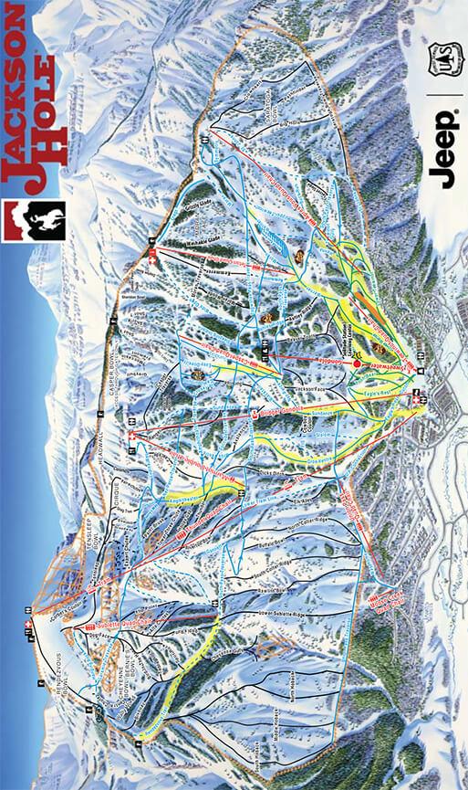 Jackson Hole Mountain Resort Snowboarding Map