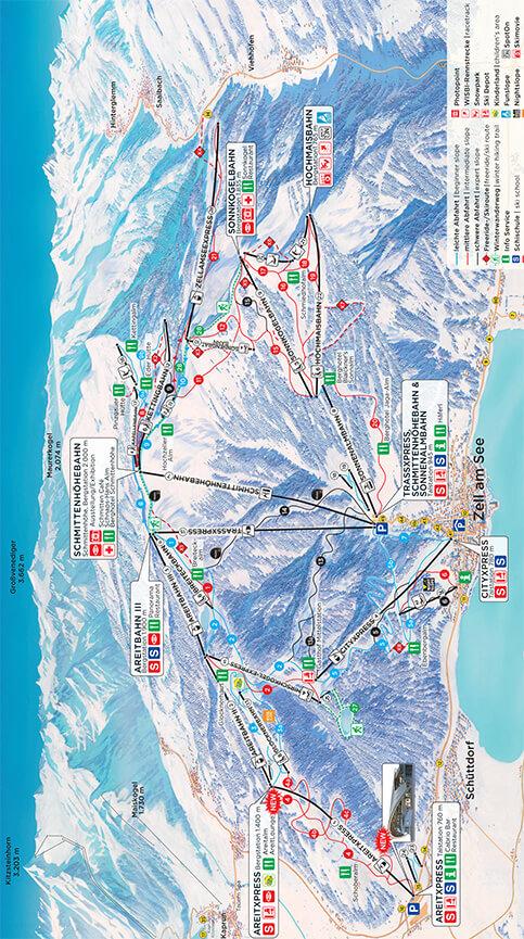 Zell Am See - Schmittenhohe Snowboarding Map