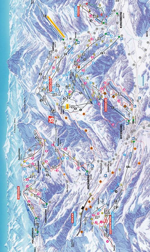 Kitzbuhel Snowboarding Map