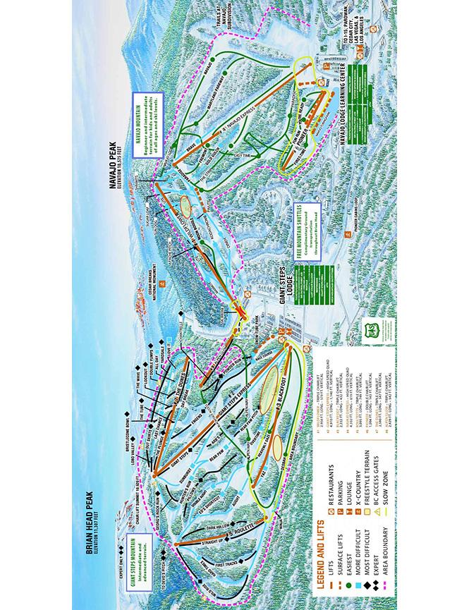 Brian Head Resort Snowboarding Map