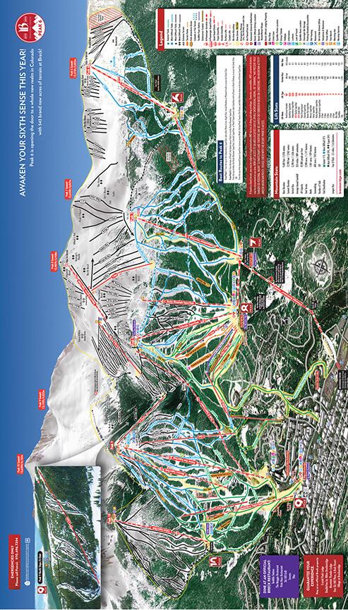 Breckenridge Ski Resort Snowboarding Map