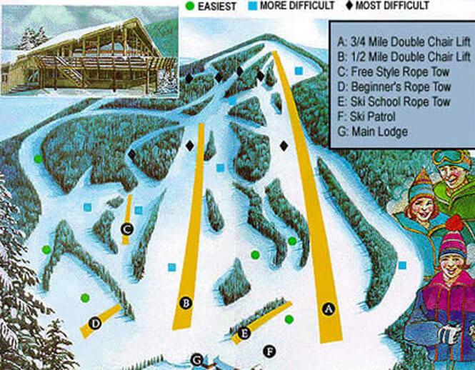Bousquet Ski Area Snowboarding Map