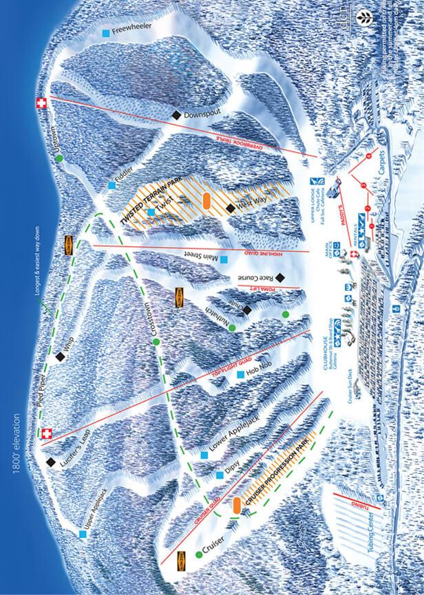 Ski Butternut Snowboarding Map