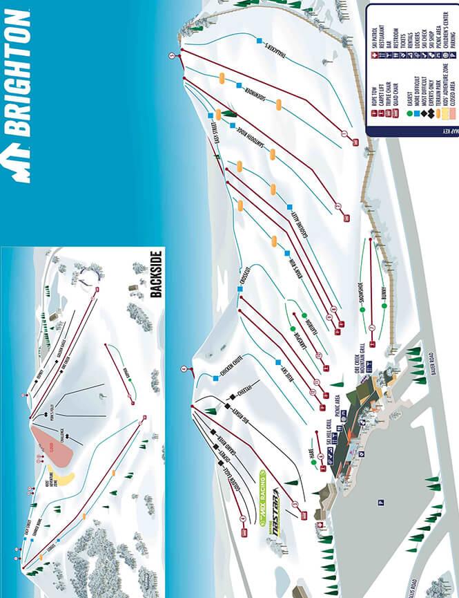 Mount Brighton Ski Area Snowboarding Map