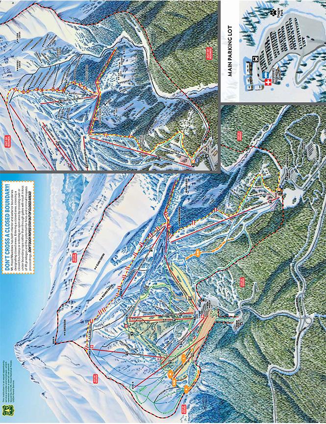 Mt. Hood Meadows Ski Resort Snowboarding Map