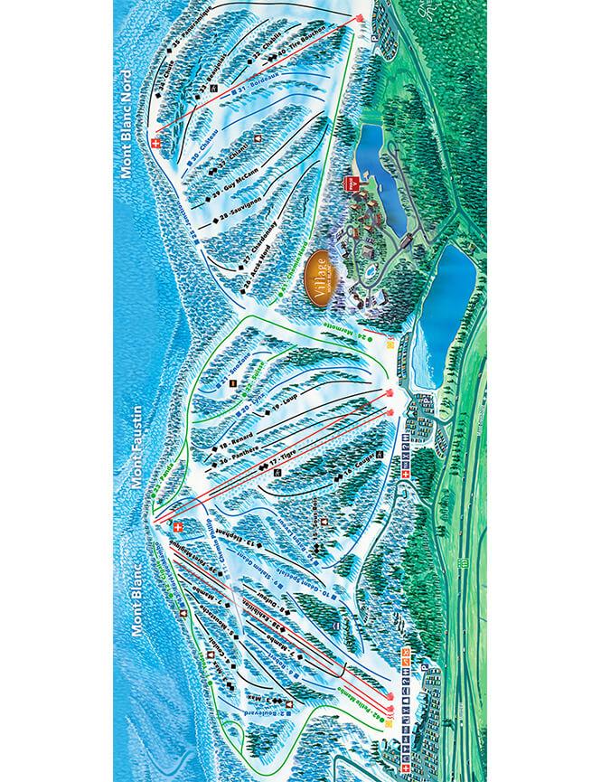 Mont Blanc Ski Resort Snowboarding Map