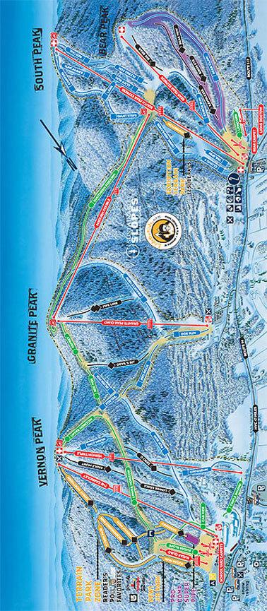 Mountain Creek Resort Snowboarding Map