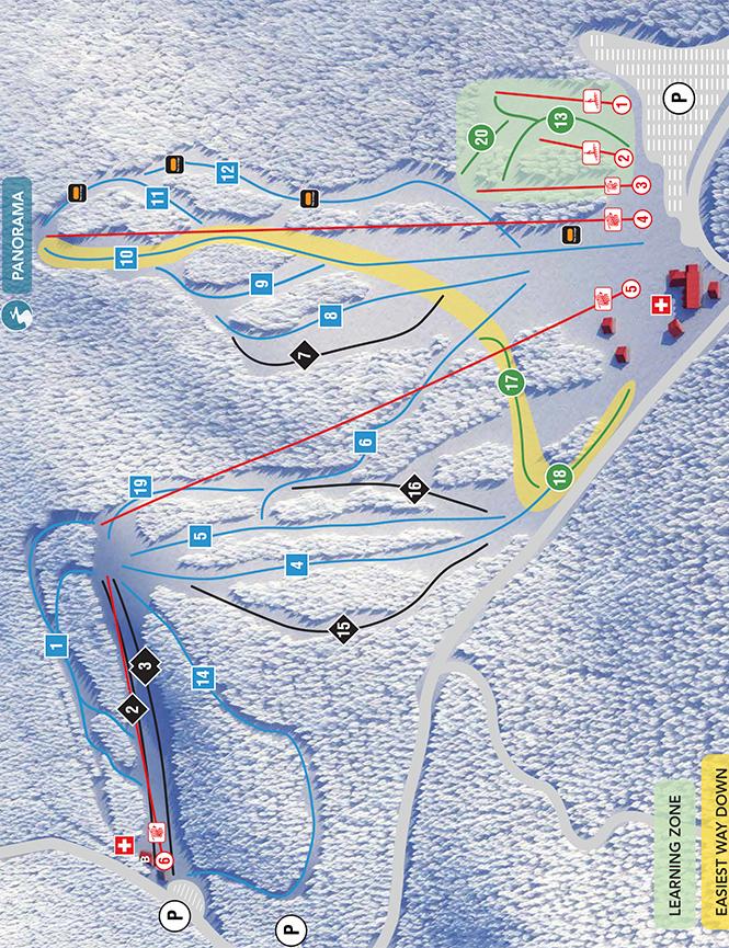 Mount Cascade Ski Area Snowboarding Map