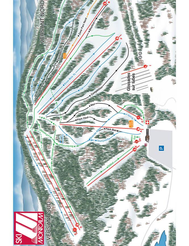 Ski Montcalm Snowboarding Map