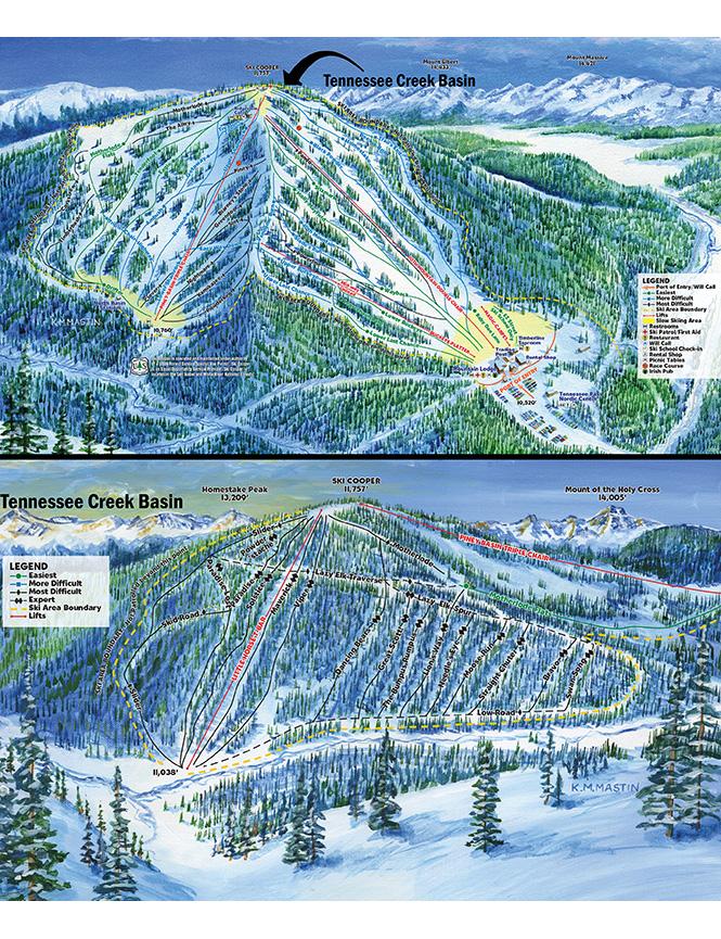 Ski Cooper Ski Area Snowboarding Map