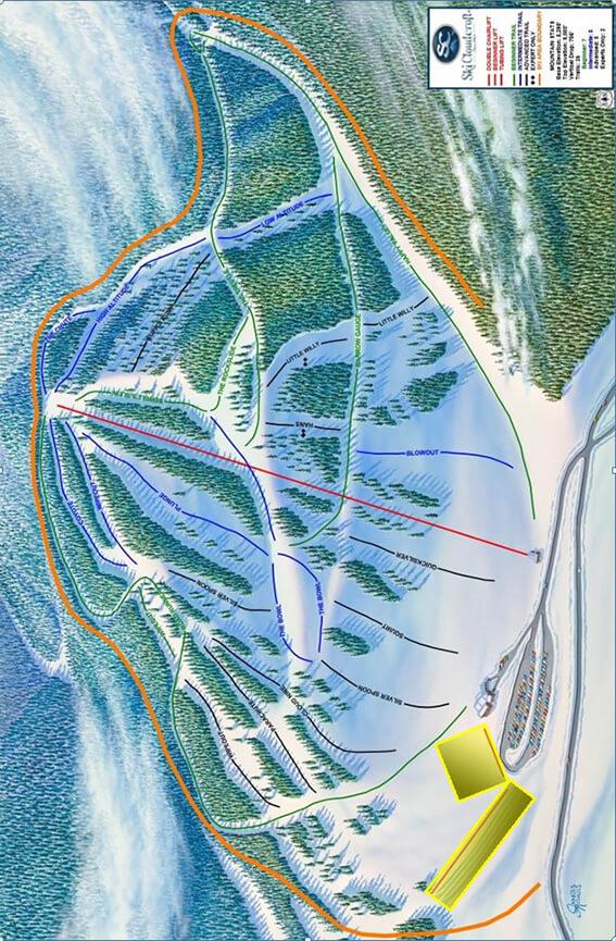 Ski Cloudcroft Snowboarding Map