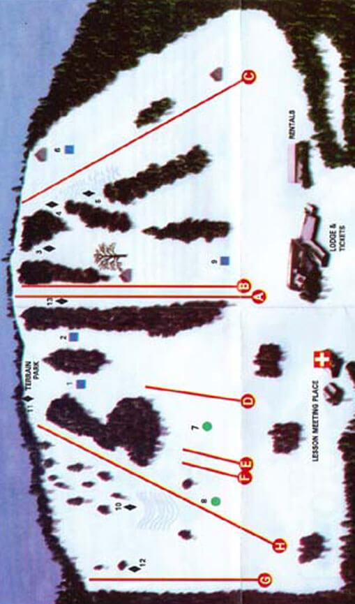 Ski Bradford Snowboarding Map
