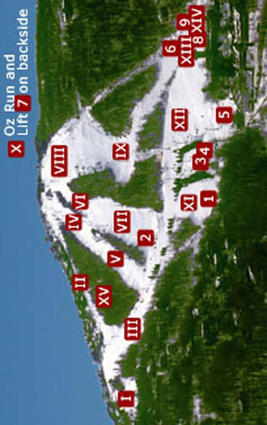 Ski Beech Mountain Resort Snowboarding Map