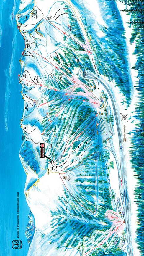 Loveland Ski Area Snowboarding Map