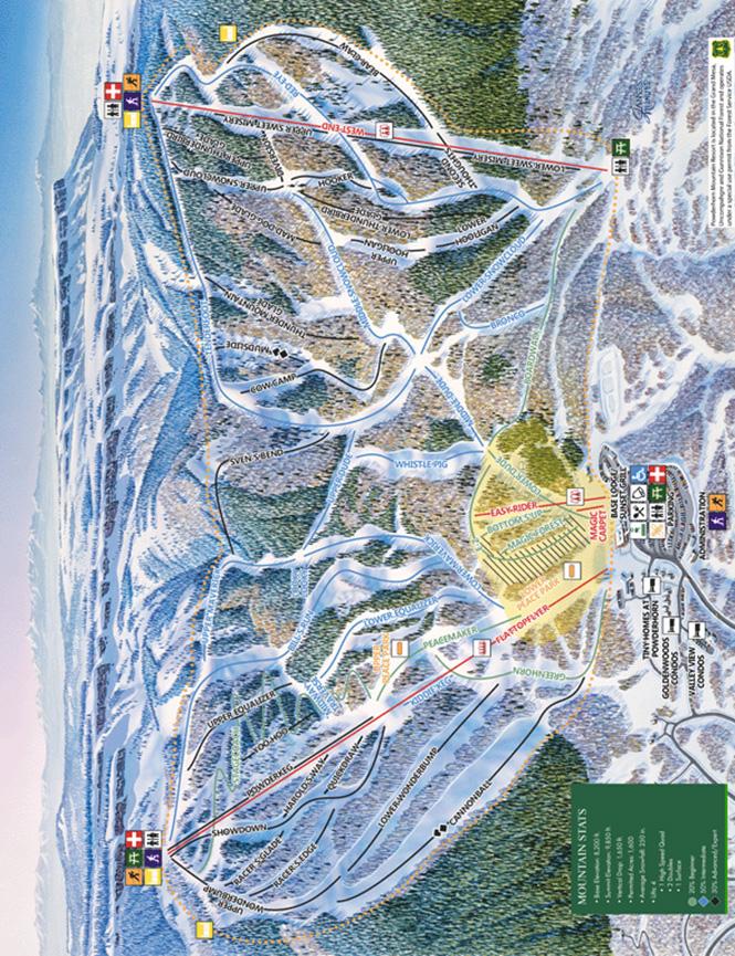 Powderhorn Mountain Resort Snowboarding Map