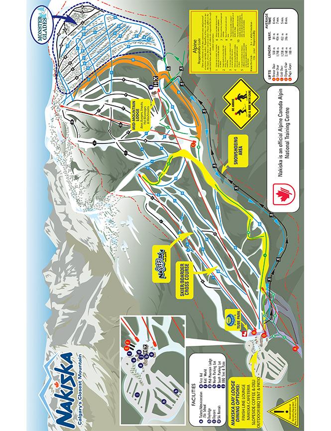 Nakiska Ski Area Snowboarding Map