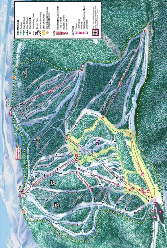 Red Lodge Mountain Ski Area Snowboarding Map