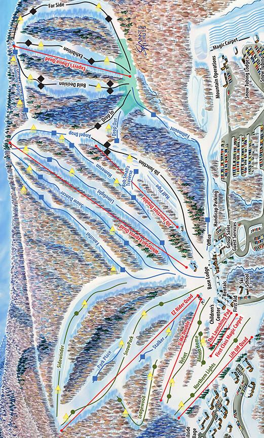 Whitetail Resort Snowboarding Map