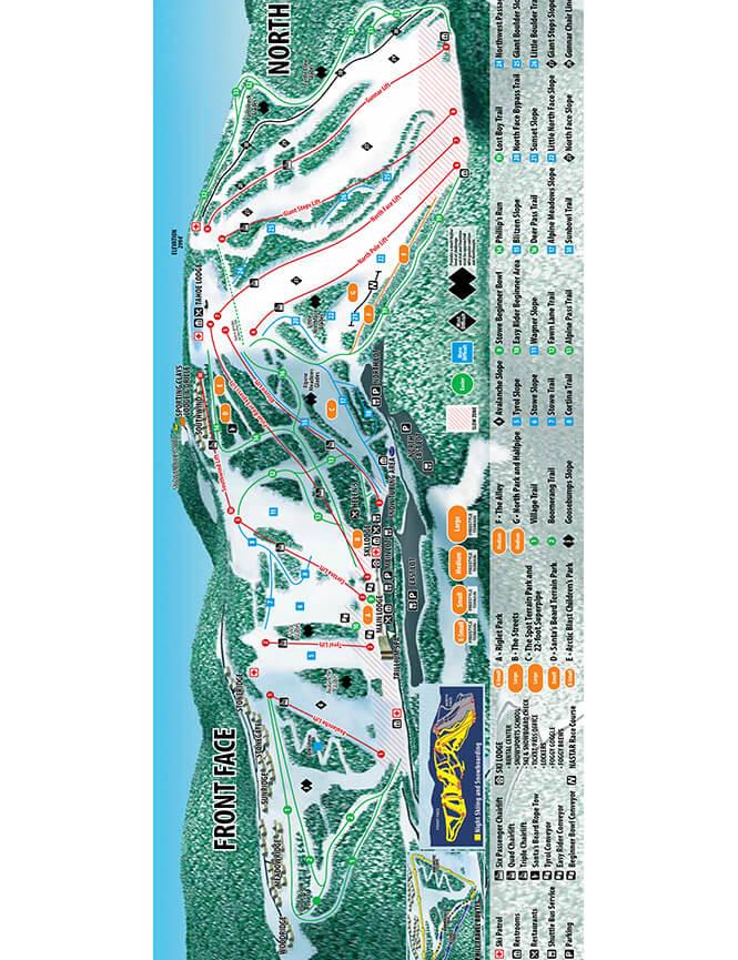 Seven Springs Resort Snowboarding Map
