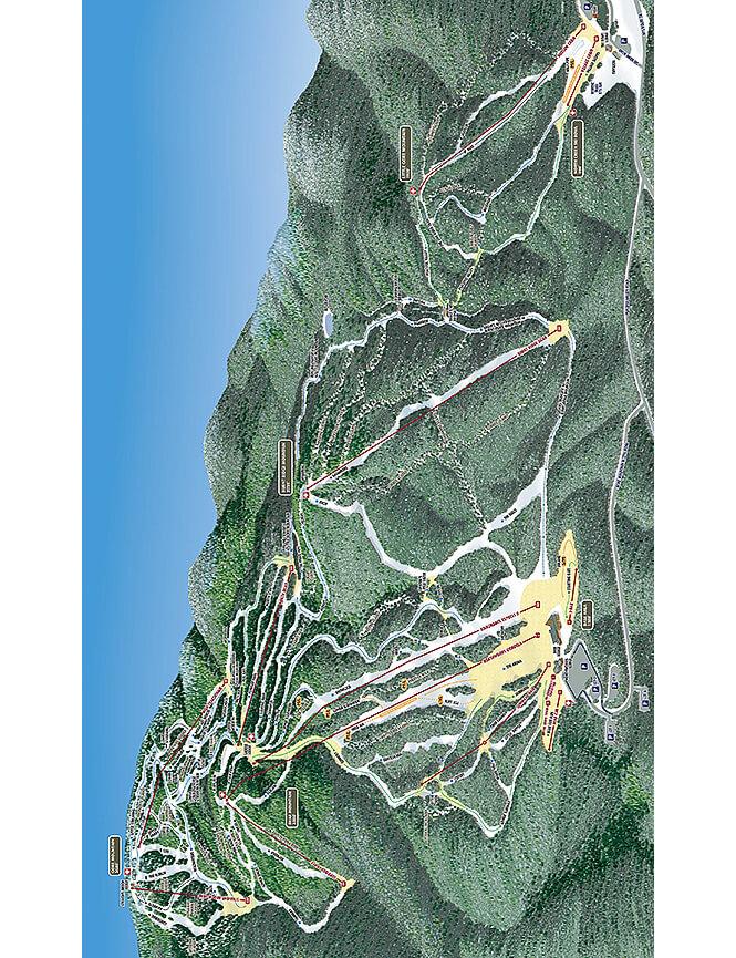 Gore Mountain Ski Area Snowboarding Map