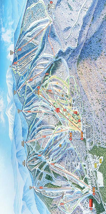 Sunday River Resort Snowboarding Map