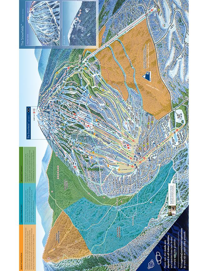 Sugarloaf Mountain Resort Snowboarding Map