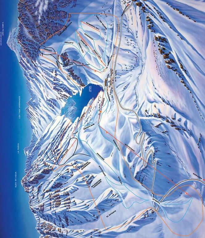 Portillo Ski Area Snowboarding Map