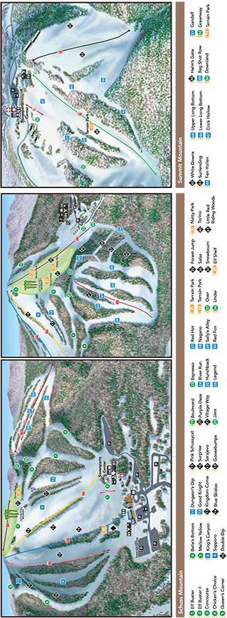Shanty Creek Resort Snowboarding Map