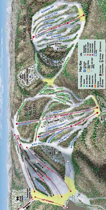 Nubs Nob Ski Area Snowboarding Map