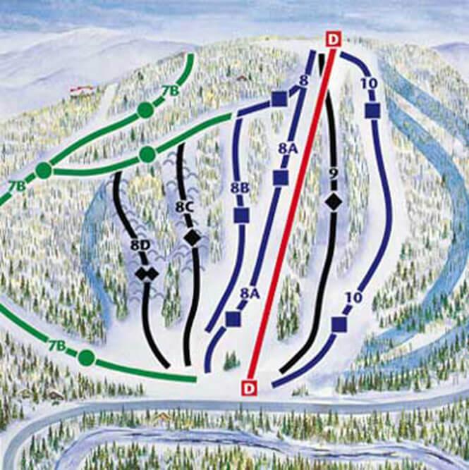 Gray Rocks Ski Area Snowboarding Map