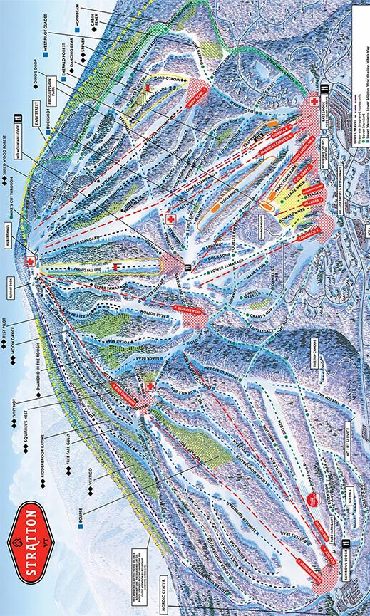 Stratton Mountain Ski Area Snowboarding Map