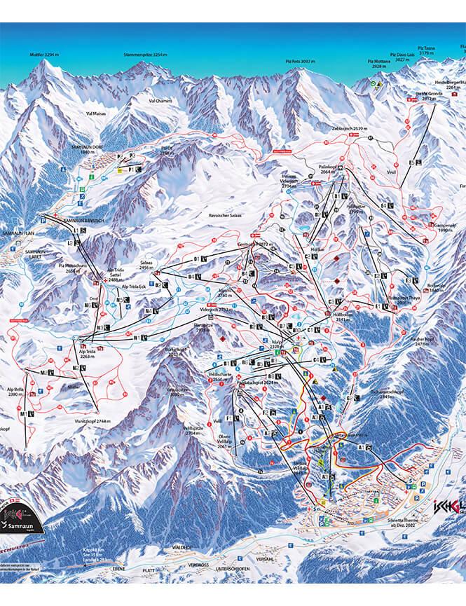 Ischgl Snowboarding Map
