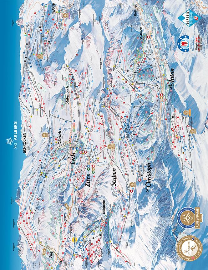 St Anton Snowboarding Map