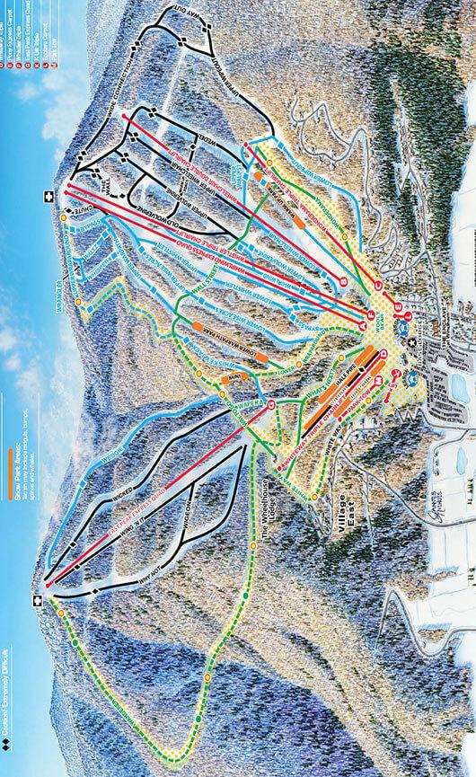 Windham Mountain Ski Area Snowboarding Map
