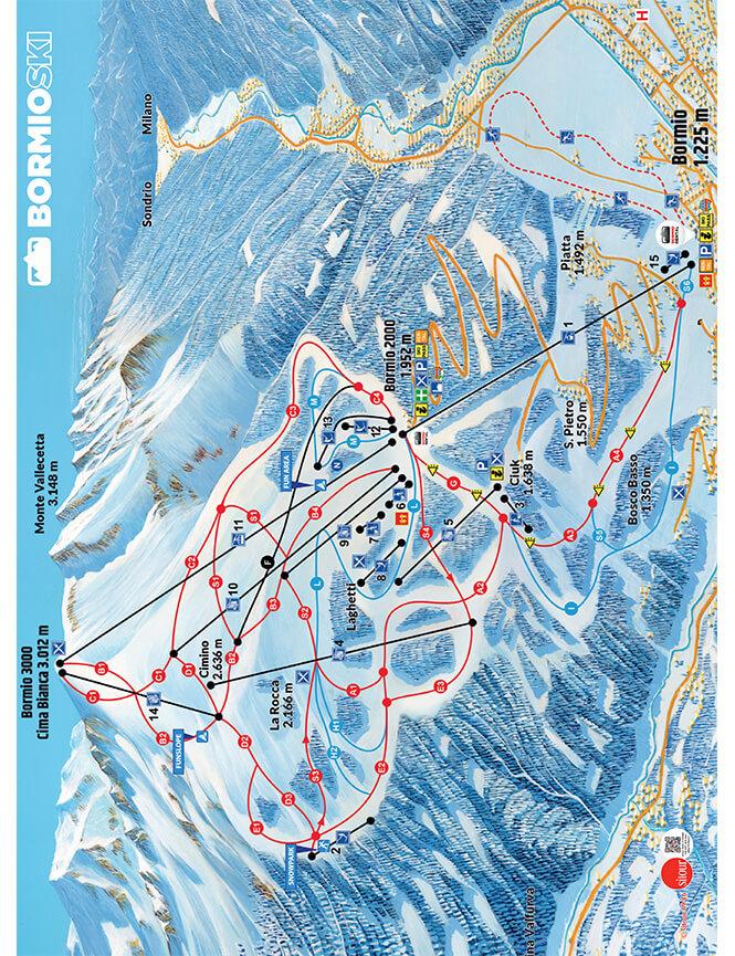 Bormio Ski 3000 Snowboarding Map