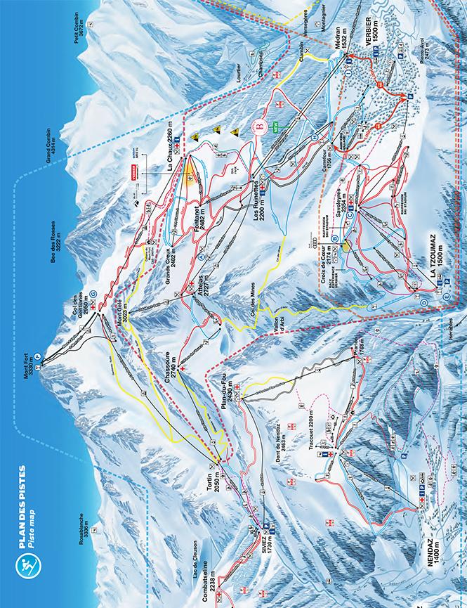 Verbier Snowboarding Map