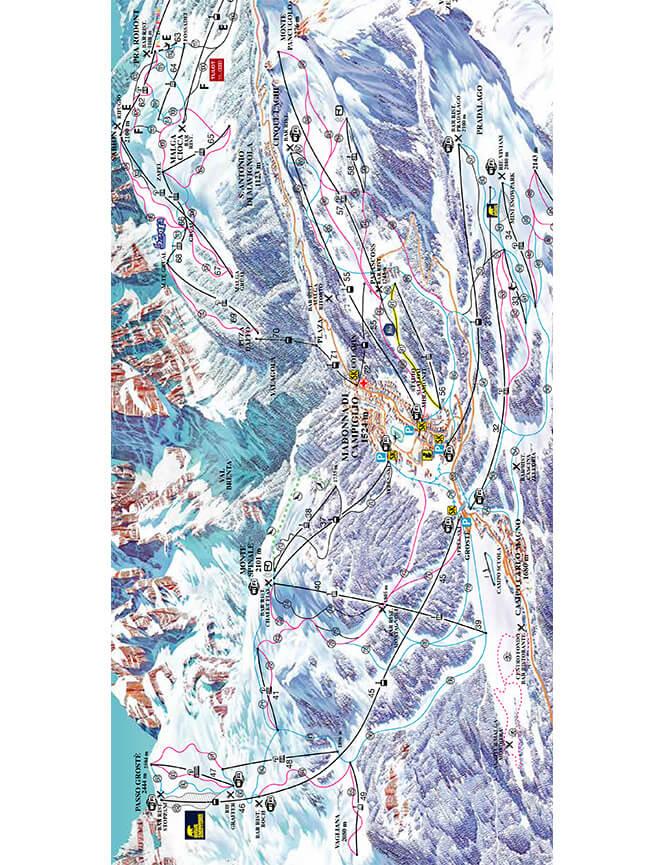 Madonna Di Campiglio Snowboarding Map