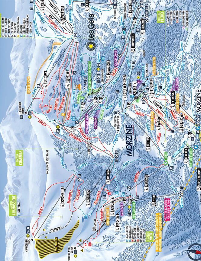 Morzine Snowboarding Map
