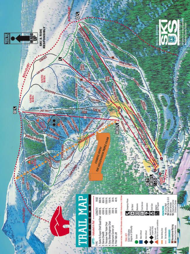 Ski Santa Fe Snowboarding Map