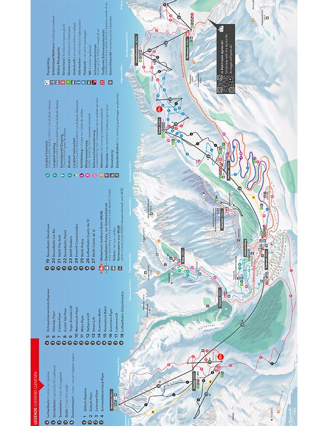 Andermatt Snowboarding Map