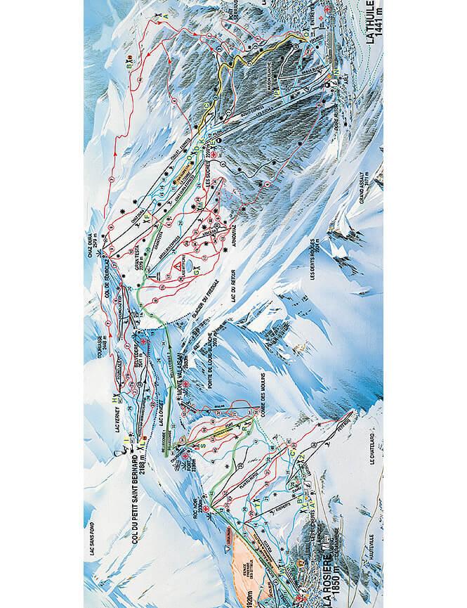 La Thuile Snowboarding Map