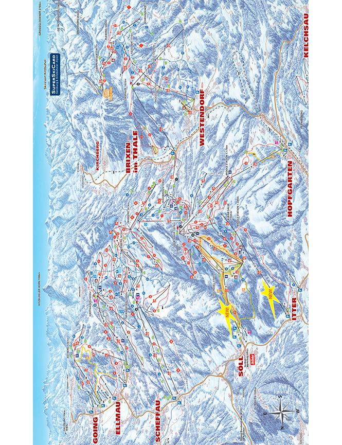 Westendorf Snowboarding Map