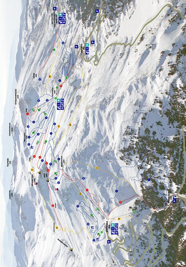 Parnassos Ski Center Snowboarding Map