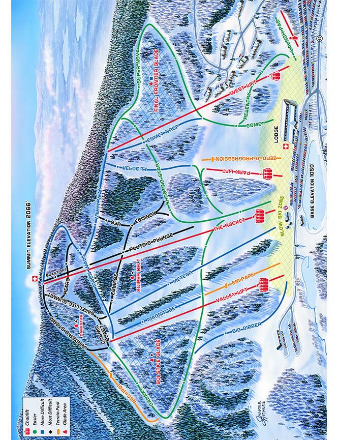 Crotched Mountain Ski Area Snowboarding Map