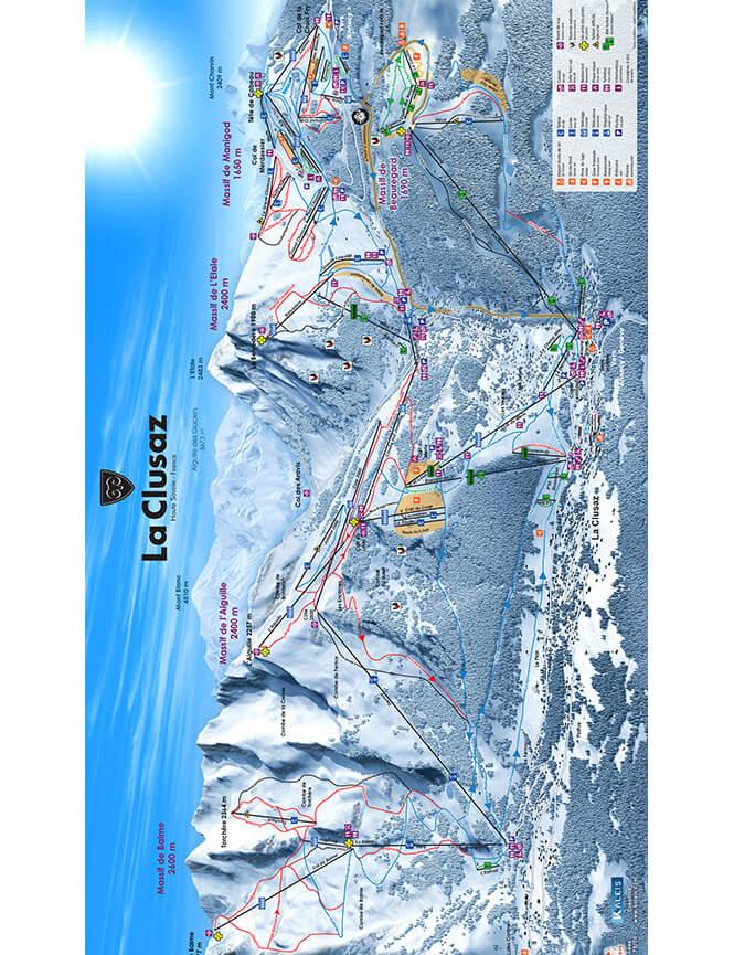 La Clusaz Snowboarding Map